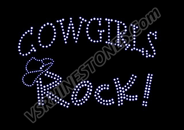 Cowgirls ROCK! Rhinestone Transfer
